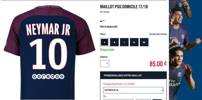 PSG : Le maillot de Neymar déjà en vente