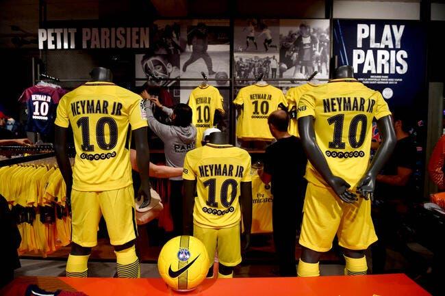 PSG : 12.000 maillots Neymar vendus, plus d'1ME déjà encaissés !