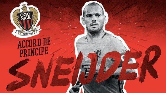 Officiel: Sneijder à Nice, c'est confirmé