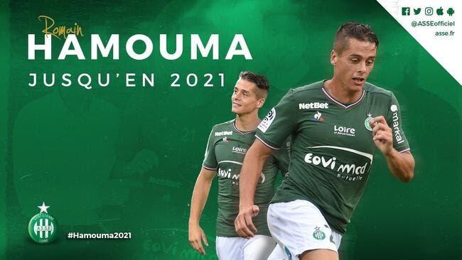 Officiel : Hamouma prolonge à l'ASSE jusqu'en 2021