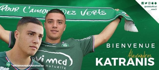 Officiel : Alexandros Katranis signe à l'ASSE jusqu'en 2022
