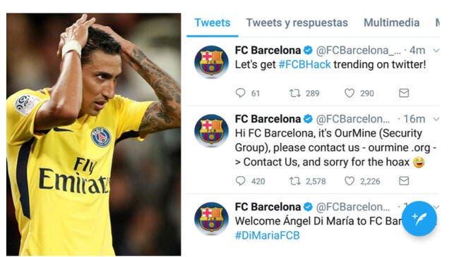Twitter : Le Barça annonce la signature de Di Maria, c'était un hacker
