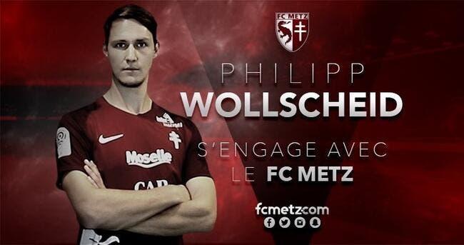 Officiel : Philipp Wollscheid signe au FC Metz