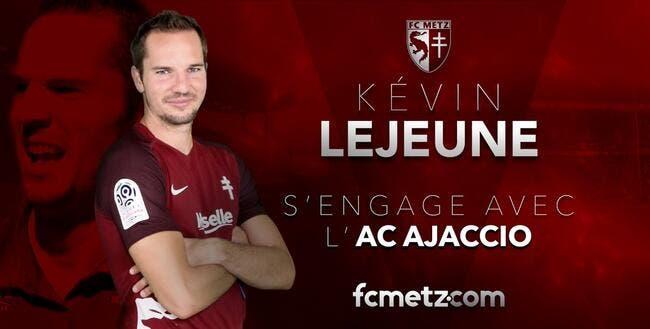 Officiel: Lejeune quitte Metz pour Ajaccio