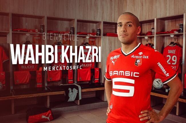 Officiel : Wahbi Khazri prêté à Rennes