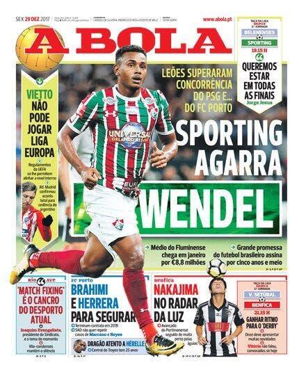 Wendel finalement transféré au Sporting — Mercato