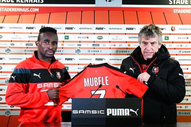 Rennes : Avec la recrue Firmin Mubélé contre Angers