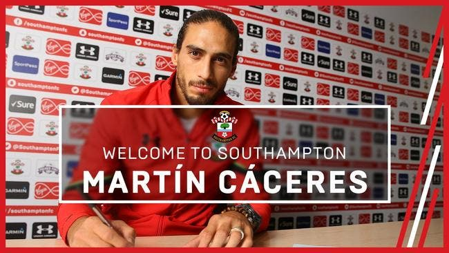 Officiel : Martin Caceres signe à Southampton