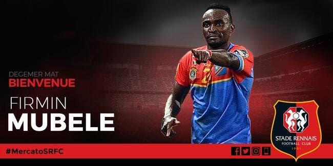 Stade Rennais. Mercato : Firmin Mubele, c'est officiel