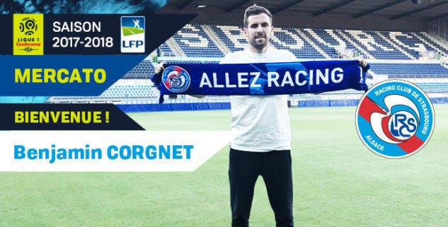 L1 - Strasbourg : Benjamin Corgnet jusqu'en 2020