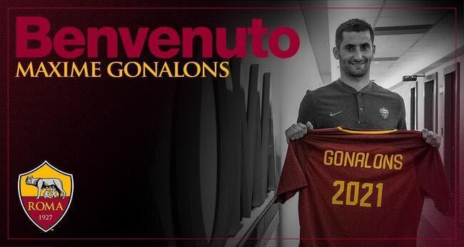Officiel : Gonalons à la Roma jusqu'en 2021