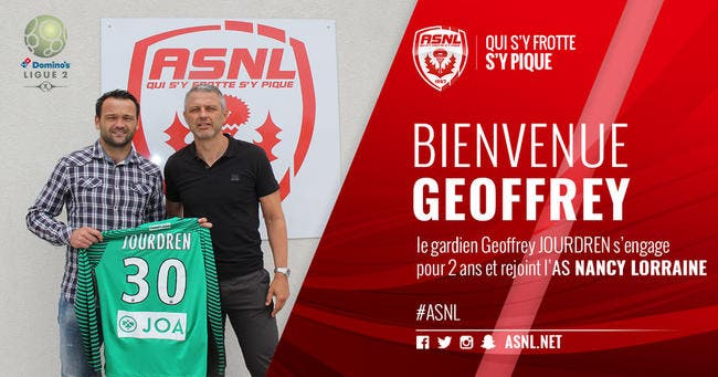 Officiel : Geoffrey Jourdren signe à Nancy