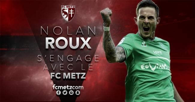Nolan Roux signe pour 3 ans à Metz (officiel)