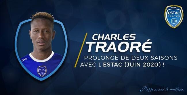 Officiel : Troyes prolonge Charles Traoré jusqu'en 2020