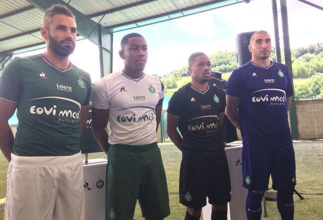 ASSE: Les nouveaux maillots des Verts dévoilés