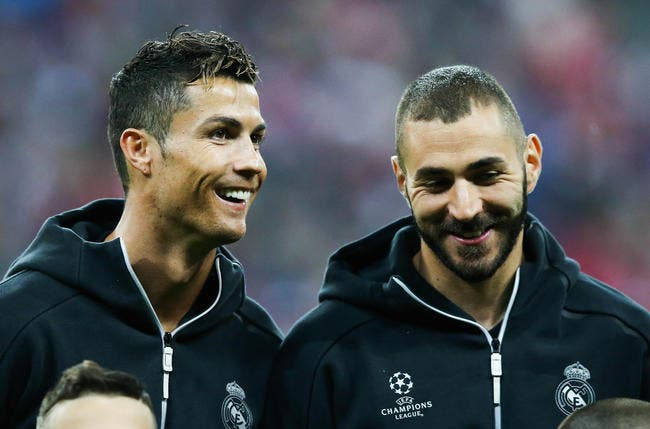 Benzema court pour Cristiano Ronaldo au Real Madrid
