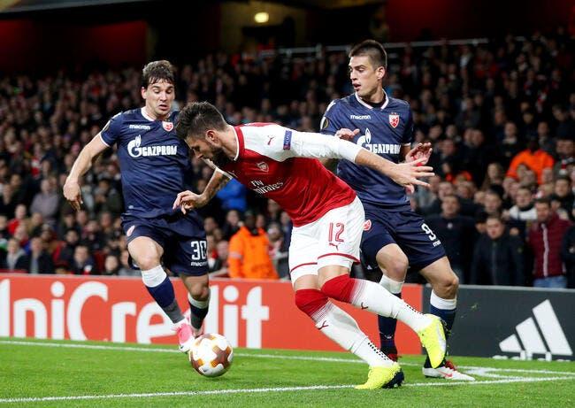 EL : Arsenal bute sur l'Etoile Rouge Belgrade