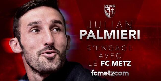 Officiel : Julian Palmieri au FC Metz jusqu'à la fin de saison