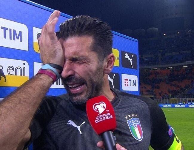 Ita : Buffon en pleurs après l'élimination de l'Italie