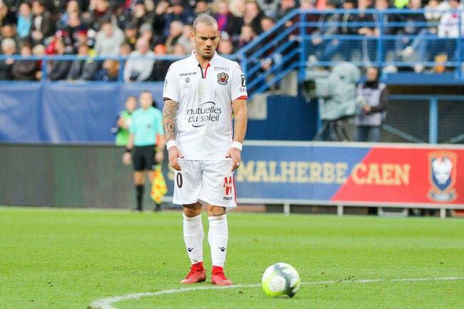 Nice : Année 2017 terminée pour Sneijder out un mois !