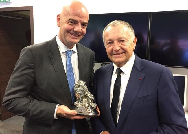 OL : Aulas accueille le président de la FIFA dans son jardin