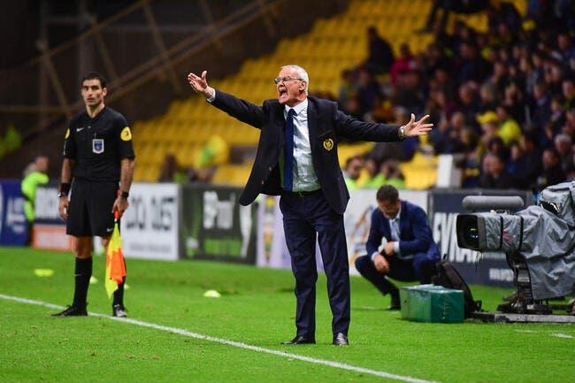 FCN : Nantes est troisième, Ranieri ne veut pas le savoir