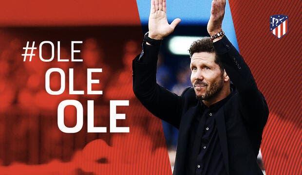 Officiel : Simeone prolonge à l'Atlético jusqu'en 2020 !