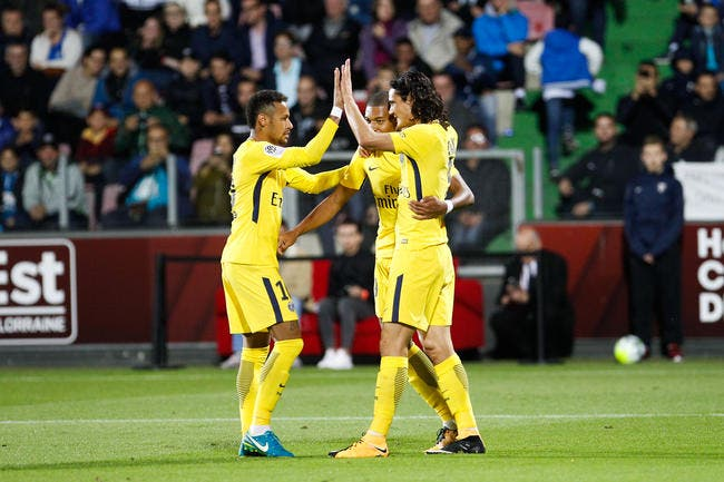 Neymar, Cavani, Mbappé chacun son but et le PSG régale