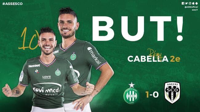 ASSE : 50 secondes et Cabella marque déjà pour les Verts