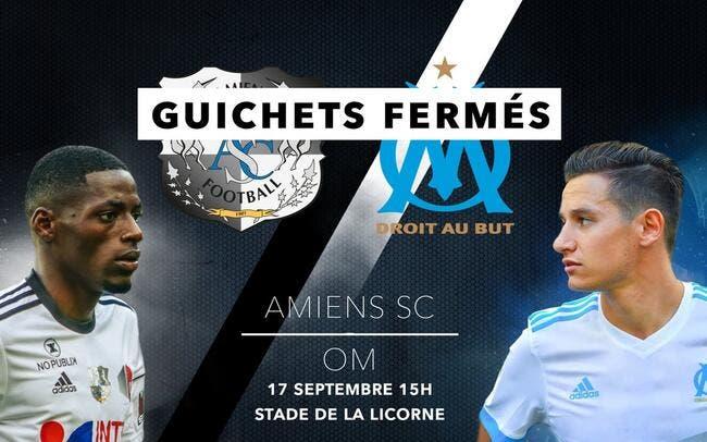 L1 : Amiens-OM se jouera à guichets fermés