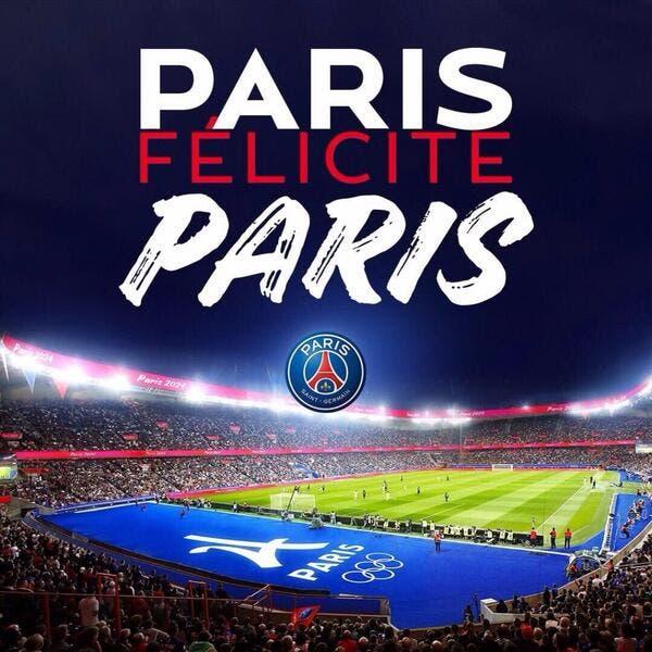 PSG : Le PSG félicite le comité Paris 2024 pour l'obtention des Jeux Olympiques