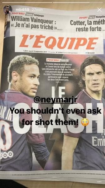 PSG : Balotelli se mêle de la polémique Neymar-Cavani, en mode bourrin