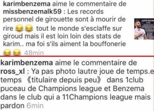 France : Benzema, le dérapage de trop contre Giroud ?