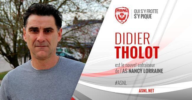 Premier succès pour Didier Tholot sur le banc de Nancy