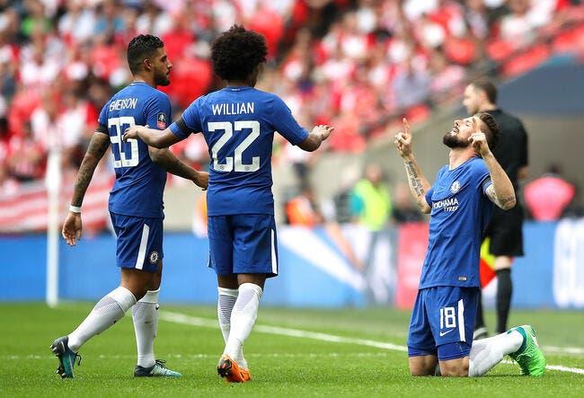 Giroud envoie Chelsea en finale de la FA Cup