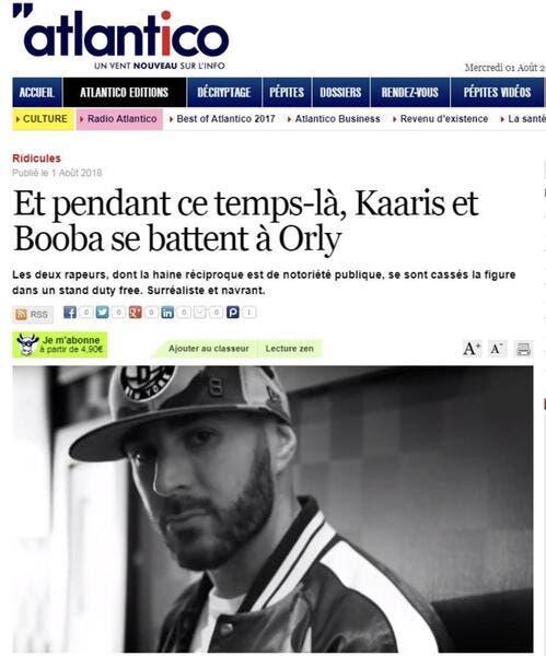 Karim Benzema se retrouve mêlé à la baston Booba-Kaaris sans le vouloir
