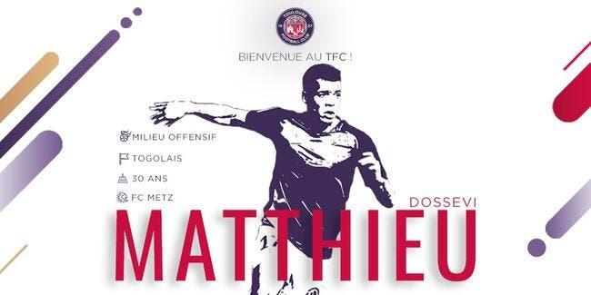 TFC : Matthieu Dossevi quitte Metz et signe à Toulouse