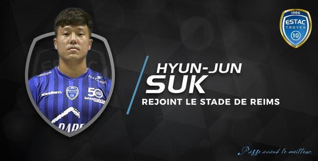 Mercato : Furieux, Troyes accepte de vendre Hyun-Jun Suk à Reims