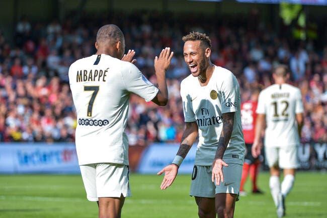 PSG : Mbappé se place bien en dessous de Neymar