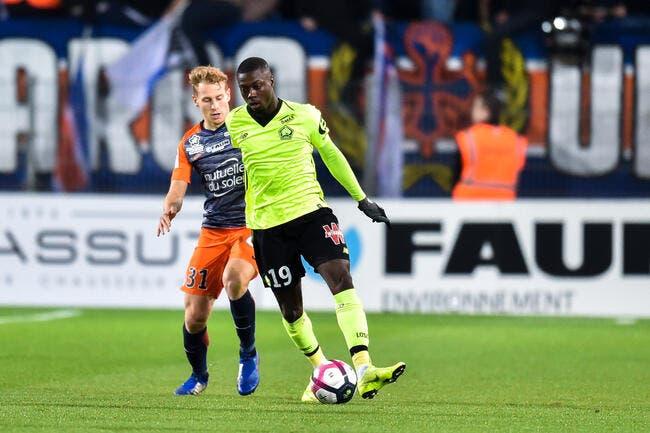 Lille réagit à Montpellier et repasse dauphin du PSG