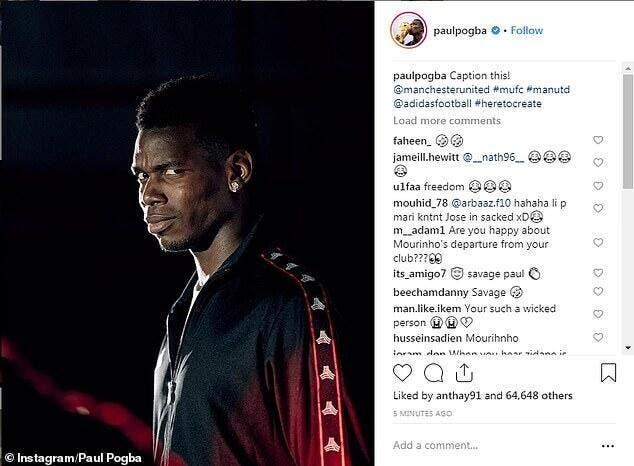 PL : Pogba se moque de Mourinho, Man Utd lui en colle une