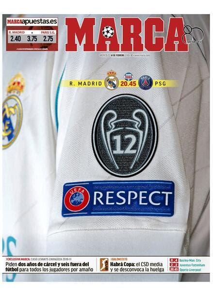 LdC : L'énorme Une de Marca avant Real Madrid-PSG !