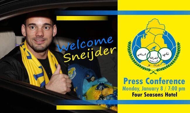 Officiel : Wesley Sneijder signe au Qatar jusqu'en 2019