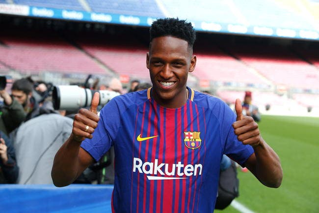 Barça - Les premiers mots de Mina