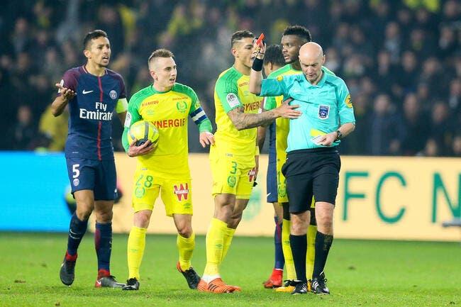 L1 : Nantes exige l'annulation immédiate du rouge de Diego Carlos