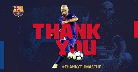 Javier Mascherano va quitter le club — Barça