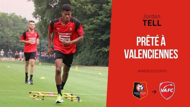 Officiel : Jordan Tell quitte Rennes et file à Valenciennes