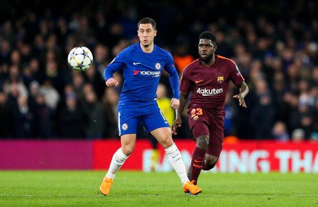 Le Barça profite du duel Real-PSG pour foncer sur Hazard