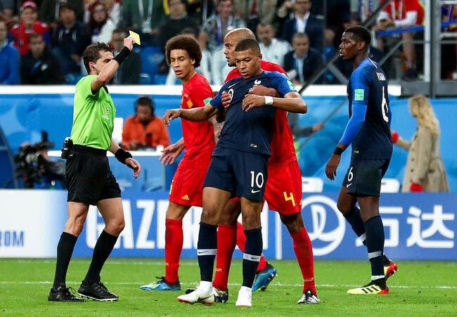 Coupe du Monde 2018 : France/Belgique, Meunier tacle Mbappé