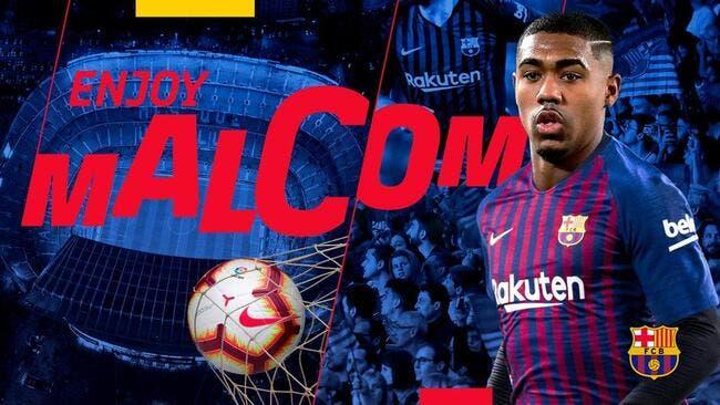Officiel: Cette fois, c'est sûr, Malcom est un joueur du FC Barcelone